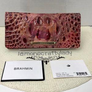 Brahmin Ady Wallet WISTERIA MELBOURNE Leather New